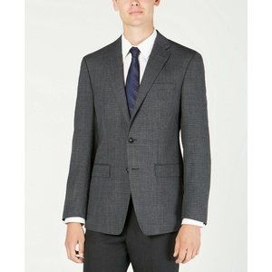 Calvin Klein Slim-Fit Charcoal/Blue Sport Coat